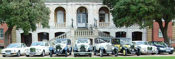 Lawnswood Limousines range of Vintage and Classic Wedding vehicles